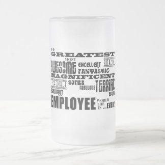 Retirement Employees  Greatest Employee World Ever Frosted Glass Beer Mug