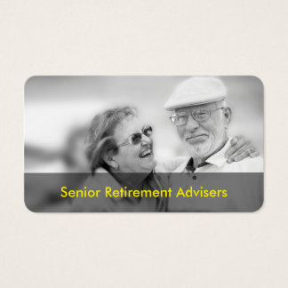 Retirement Financial Planning Business Card