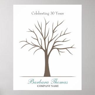 Retirement Fingerprint Tree Poster