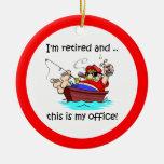 Retirement fishing ornaments