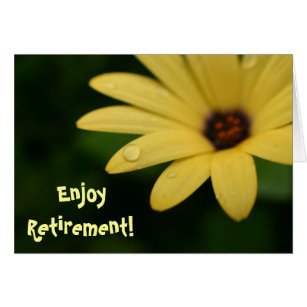 Funny retirement cards greeting photo cards zazzle retirement funny quote yellow flower greeting card m4hsunfo