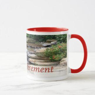 Retirement Garden Waterfall Cascade Ringer Mug