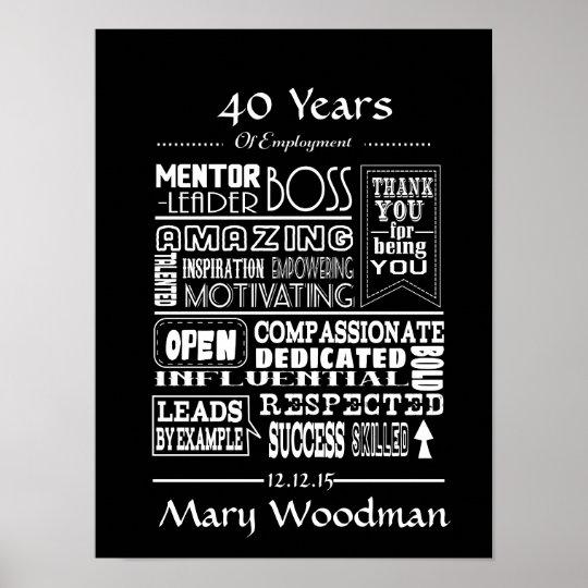 retirement gift print boss retirement poster zazzle com