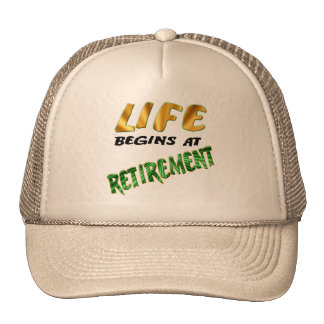 Retirement Gifts and Retirement T-shirts Trucker Hat