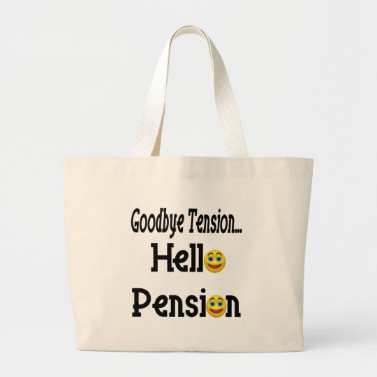 Retirement Gifts and Retirement T-shirts Large Tote Bag