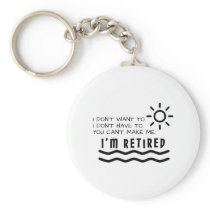 Retirement Gifts Funny For Men Women Dad Mom Keychain