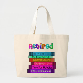 Retirement Gifts Unique Stack of Books Design Tote Bags