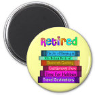 Retirement Gifts Unique Stack of Books Design Magnet