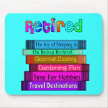 Retirement Gifts Unique Stack of Books Design Mouse Pad