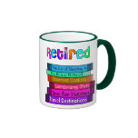 Retirement Gifts Unique Stack of Books Design Mugs