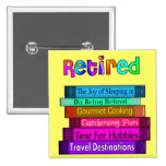 Retirement Gifts Unique Stack of Books Design Pin