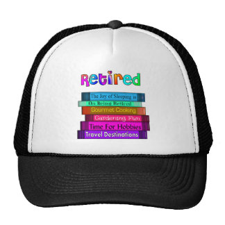 Retirement Gifts Unique Stack of Books Design Trucker Hat