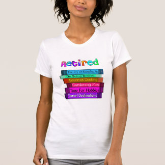 Retirement Gifts Unique Stack of Books Design Tshirts