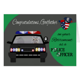Retirement, Godfather, Police Greeting Card