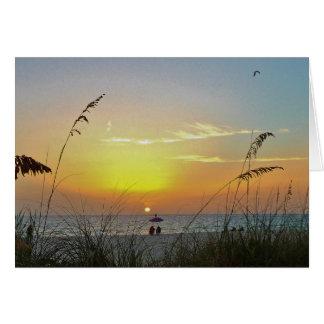 Retirement Golden Beach Sunset Card