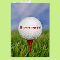 Retirement Golf Ball Card