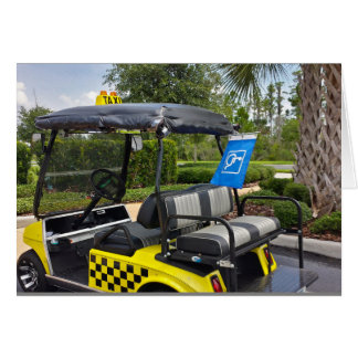 Retirement - Golf Cart Taxi New Set Of Wheels Card