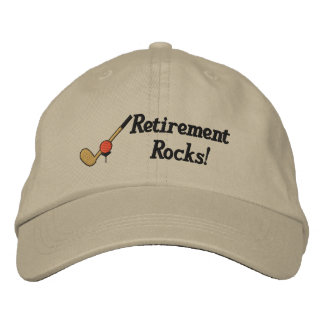 Retirement Golf Embroidered Hat