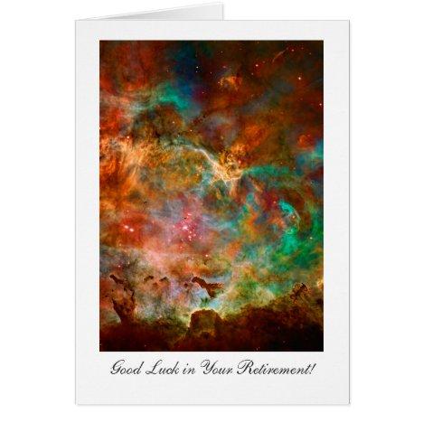 Retirement Good luck, Carina Nebula Star Journey Card