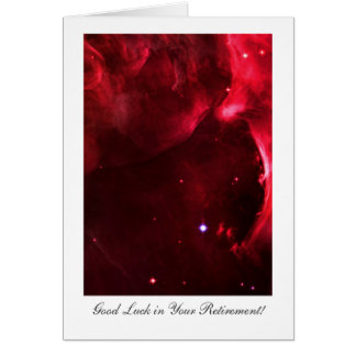 Retirement Good luck,, Orion Nebula in Outer Space Card