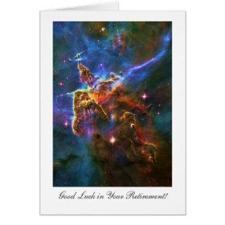 Retirement Good luck, Star filled Carina Nebula Card
