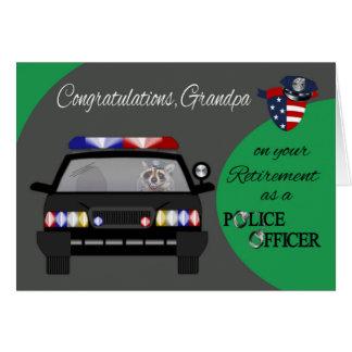 Retirement, Grandpa, Police Greeting Card