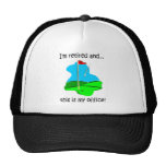Retirement humor for golfers trucker hat