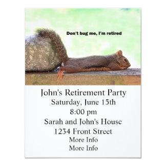 Retirement Humor Squirrel Card