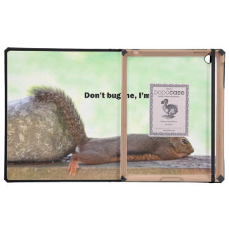 Retirement Humor Squirrel Cover For iPad