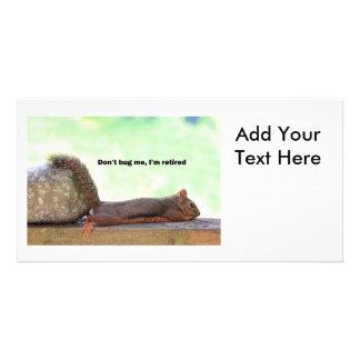 Retirement Humor Squirrel Photo Card