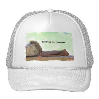 Retirement Humor Squirrel Trucker Hats