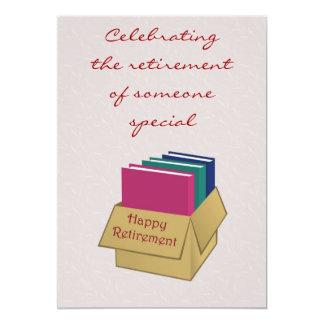 Retirement Invitation for office worker secretary