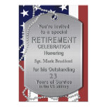Retirement Invitation - Military - Dog Tags-MALE