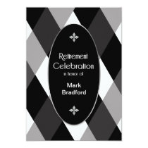 Retirement Invitation - Name Insert - Black/Grays