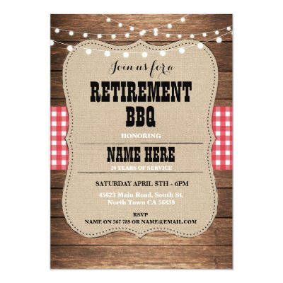 Retirement Party Cheers Beers Wood Pub Invitation  Zazzle