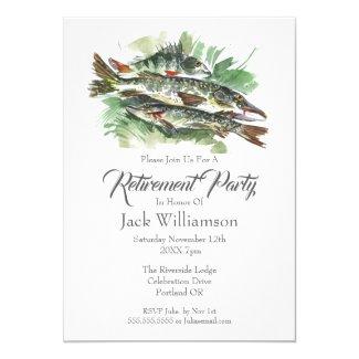 Retirement Invitation Retired Party | Fishing