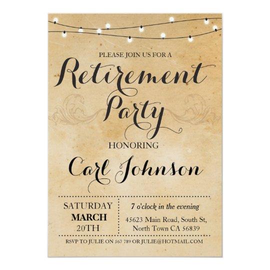 Retirement Invitation Retired Party Invite