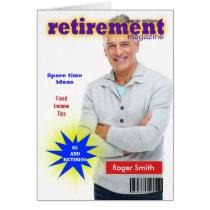 Retirement Magazine Cover Card