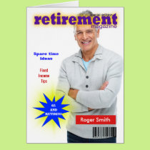 Retirement Magazine Cover Card