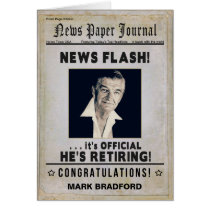 RETIREMENT (Male) Congratulations - News Journal - Card