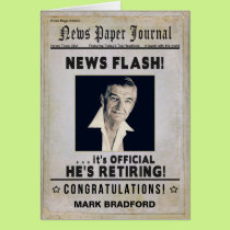 RETIREMENT (Male) Congratulations - News Journal - Card