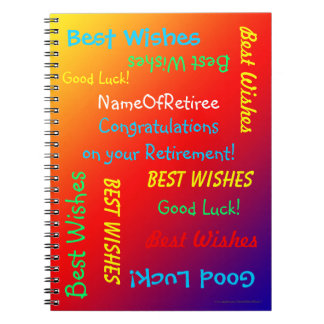 Retirement Memory Book, Vivid Rainbow Notebook