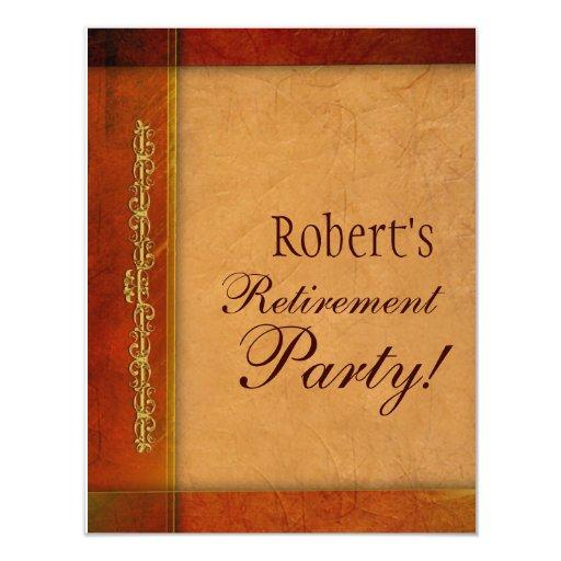 """Retirement or Event Invitations 4.25"""" X 5.5"""" Invitation Card"""