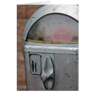 Retirement Parking Meter Card