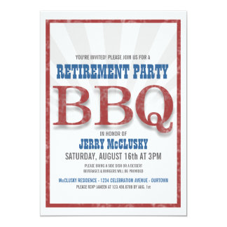 Retirement Party Barbeque Invitations