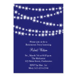 Retirement Party Blue Twinkle Lights Invite