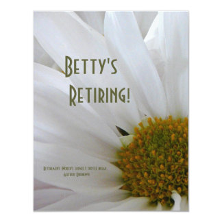 Retirement Party (customize name)-White Daisy Card