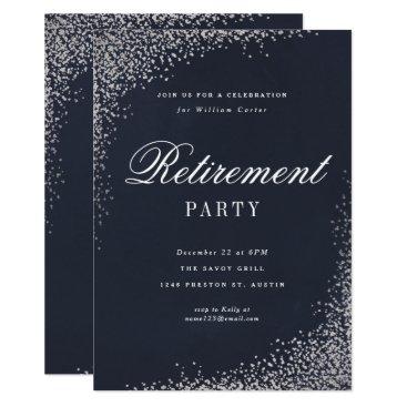 Professional Business Retirement Party faux foil party invitation