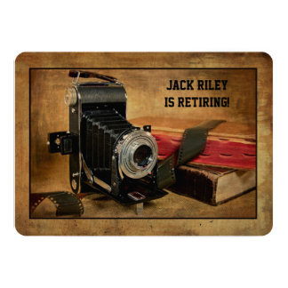 Retirement Party for Photographer 5x7 Paper Invitation Card
