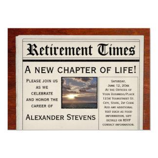 Retirement Party Fun Newspaper Invitation